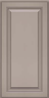 Square Raised Panel - Solid (LCM) Maple in Pebble Grey - Wall