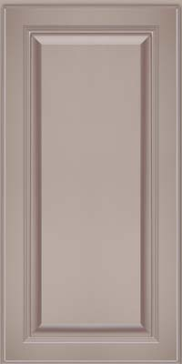 Square Raised Panel - Solid (LCM) Maple in Pebble Grey w/ Cocoa Glaze - Wall