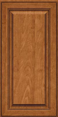 Square Raised Panel - Solid (LCM) Maple in Praline w/Onyx Glaze - Wall