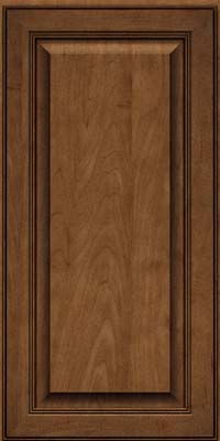 Square Raised Panel - Solid (LCM) Maple in Rye w/Onyx Glaze - Wall