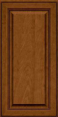 Square Raised Panel - Solid (LCM) Maple in Rye w/Sable Glaze - Wall
