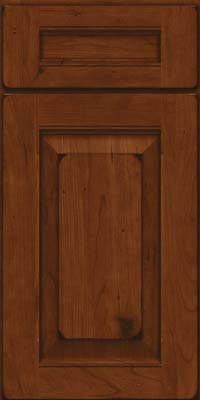 Square Raised Panel - Solid (LWB) Rustic Cherry in Burnished Autumn Blush - Base