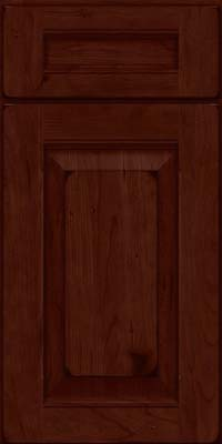 Square Raised Panel - Solid (LWB) Rustic Cherry in Burnished Cabernet - Base