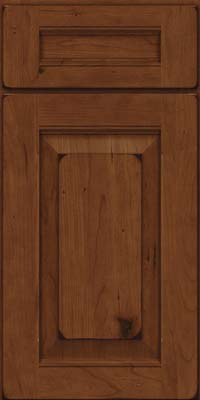 Square Raised Panel - Solid (LWB) Rustic Cherry in Burnished Chocolate - Base