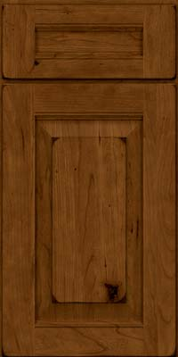 Square Raised Panel - Solid (LWB) Rustic Cherry in Burnished Ginger - Base