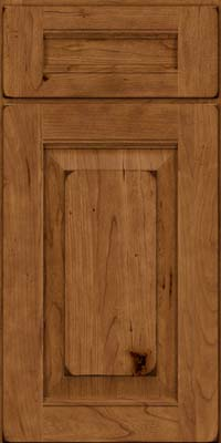 Square Raised Panel - Solid (LWB) Rustic Cherry in Burnished Rye - Base