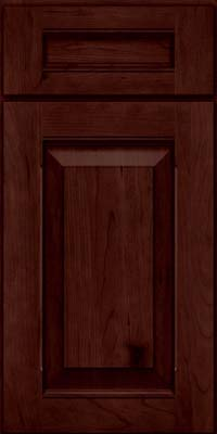 Square Raised Panel - Solid (LWB) Rustic Cherry in Cabernet - Base