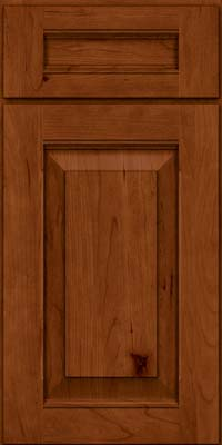 Square Raised Panel - Solid (LWB) Rustic Cherry in Cinnamon - Base
