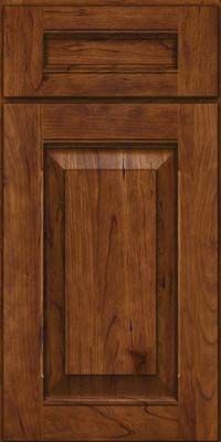 Square Raised Panel - Solid (LWB) Rustic Cherry in Cognac - Base