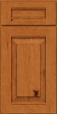 Square Raised Panel - Solid (LWB) Rustic Cherry in Honey Spice - Base