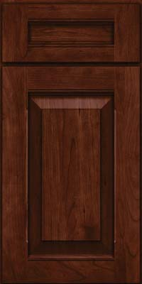 Square Raised Panel - Solid (LWB) Rustic Cherry in Kaffe - Base