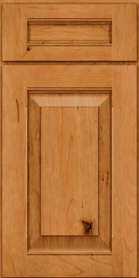 Square Raised Panel - Solid (LWB) Rustic Cherry in Natural - Base
