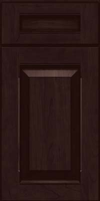 Square Raised Panel - Solid (LWB) Rustic Cherry in Peppercorn - Base