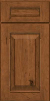 Square Raised Panel - Solid (LWB) Rustic Cherry in Rye - Base