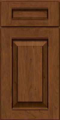 Square Raised Panel - Solid (LWB) Rustic Cherry in Rye w/Sable Glaze - Base