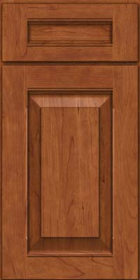 Square Raised Panel - Solid (LWB) Rustic Cherry in Sunset - Base