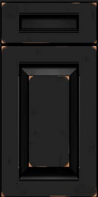 Square Raised Panel - Solid (LWB) Rustic Cherry in Vintage Onyx - Base