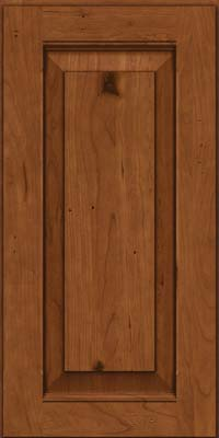 Square Raised Panel - Solid (LWB) Rustic Cherry in Antique Chocolate w/Mocha Glaze - Wall