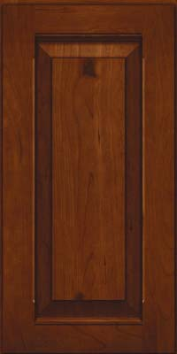 Square Raised Panel - Solid (LWB) Rustic Cherry in Autumn Blush - Wall