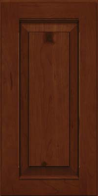 Square Raised Panel - Solid (LWB) Rustic Cherry in Autumn Blush w/Onyx Glaze - Wall