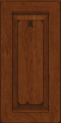 Square Raised Panel - Solid (LWB) Rustic Cherry in Burnished Autumn Blush - Wall