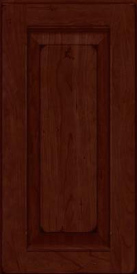 Square Raised Panel - Solid (LWB) Rustic Cherry in Burnished Cabernet - Wall