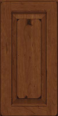 Square Raised Panel - Solid (LWB) Rustic Cherry in Burnished Chocolate - Wall