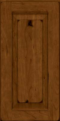 Square Raised Panel - Solid (LWB) Rustic Cherry in Burnished Ginger - Wall