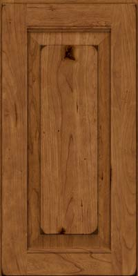 Square Raised Panel - Solid (LWB) Rustic Cherry in Burnished Rye - Wall