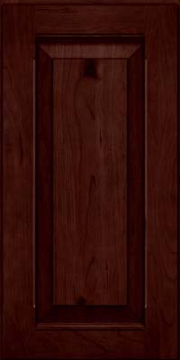Square Raised Panel - Solid (LWB) Rustic Cherry in Cabernet - Wall