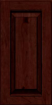 Square Raised Panel - Solid (LWB) Rustic Cherry in Cabernet w/Onyx Glaze - Wall
