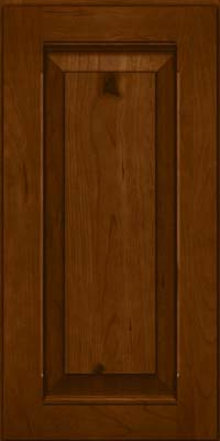 Square Raised Panel - Solid (LWB) Rustic Cherry in Chocolate - Wall