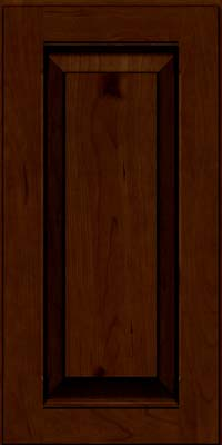 Square Raised Panel - Solid (LWB) Rustic Cherry in Chocolate w/Ebony Glaze - Wall