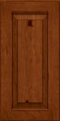 Square Raised Panel - Solid (LWB) Rustic Cherry in Cinnamon - Wall