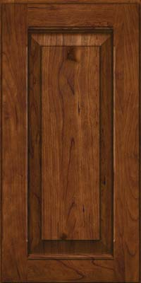 Square Raised Panel - Solid (LWB) Rustic Cherry in Cognac - Wall