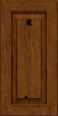 Square Raised Panel - Solid (LWB) Rustic Cherry in Ginger w/Sable Glaze - Wall