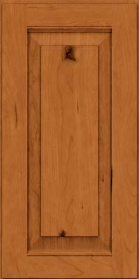 Square Raised Panel - Solid (LWB) Rustic Cherry in Honey Spice - Wall