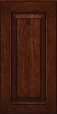 Square Raised Panel - Solid (LWB) Rustic Cherry in Kaffe - Wall