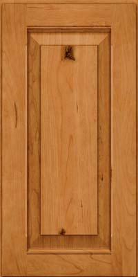 Square Raised Panel - Solid (LWB) Rustic Cherry in Natural - Wall