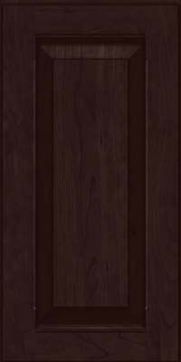 Square Raised Panel - Solid (LWB) Rustic Cherry in Peppercorn - Wall