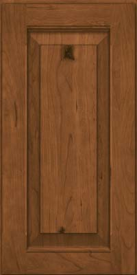 Square Raised Panel - Solid (LWB) Rustic Cherry in Rye - Wall