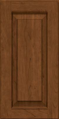 Square Raised Panel - Solid (LWB) Rustic Cherry in Rye w/Sable Glaze - Wall