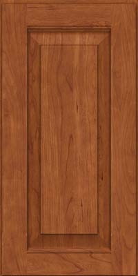 Square Raised Panel - Solid (LWB) Rustic Cherry in Sunset - Wall