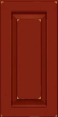 Square Raised Panel - Solid (LWB) Rustic Cherry in Vintage Cardinal - Wall