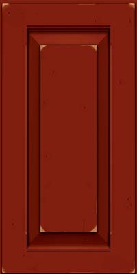 Square Raised Panel - Solid (LWB) Rustic Cherry in Vintage Cardinal w/Onyx Patina - Wall