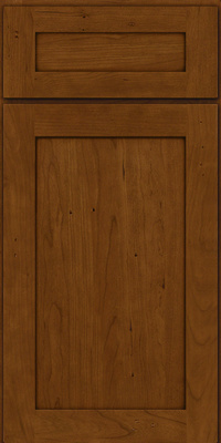 Square Recessed Panel - Veneer (LY) Cherry in Antique Chocolate w/Mocha Glaze - Base