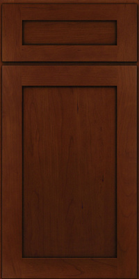 Square Recessed Panel - Veneer (LY) Cherry in Autumn Blush w/Onyx Glaze - Base