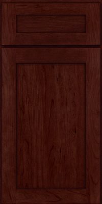 Square Recessed Panel - Veneer (LY) Cherry in Cabernet - Base