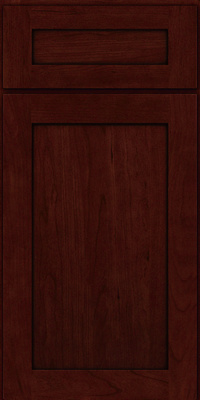 Square Recessed Panel - Veneer (LY) Cherry in Cabernet w/Onyx Glaze - Base