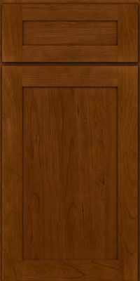 Square Recessed Panel - Veneer (LY) Cherry in Chocolate - Base